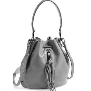 Elizabeth James Lambskin Leather Bucket Bag Cynnie